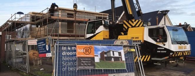Het hoogste punt van de bouw van Villa Roosendaal is bereikt
